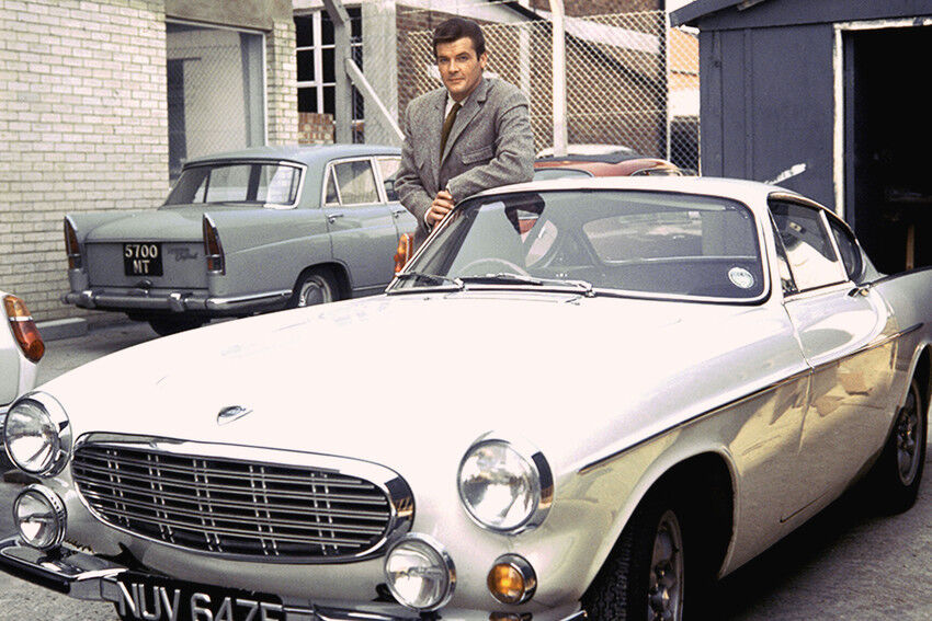 ROGER MOORE THE SAINT VOLVO SPORTS CAR 24X36 POSTER | eBay