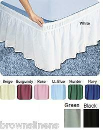 twin extra long size 14 drop bed skirt dust ruffle green ebay. Black Bedroom Furniture Sets. Home Design Ideas