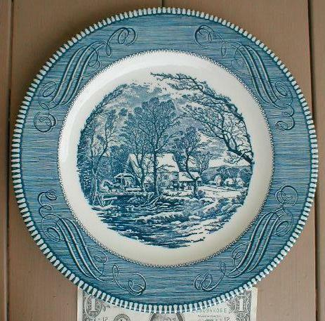 10 Quot Royal Currier Amp Ives Collector Plate Old Grist Mill Ebay