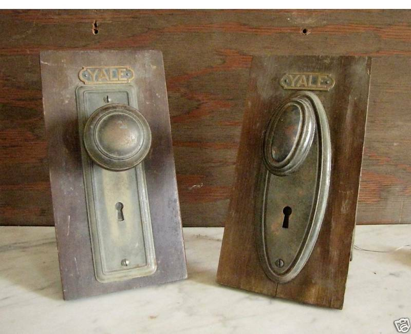 Vintage interior door hardware salesman samples 23 24 ebay - Interior door handles and hinges ...
