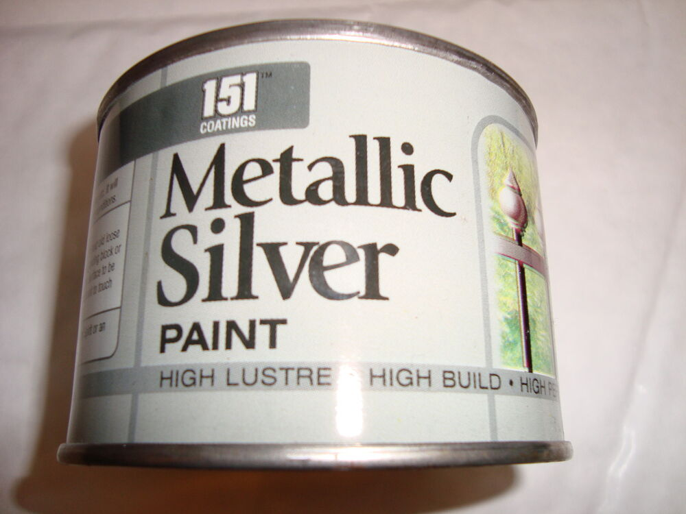 Silver metallic paint metal wood concrete railings gate ebay for How to make silver paint