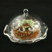 Glass Cake Stand (A) & KIWI Cake Dolls House Miniatures