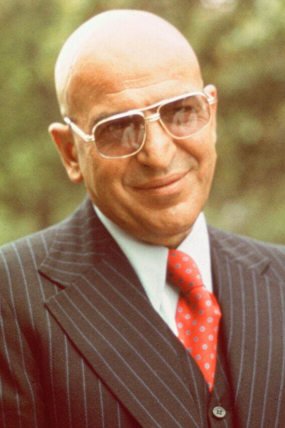 telly savalas kojak in suit smiling color poster print