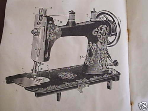 Vtg Greist Sewing 1916 Rotary Instruction + Parts Booklet ...
