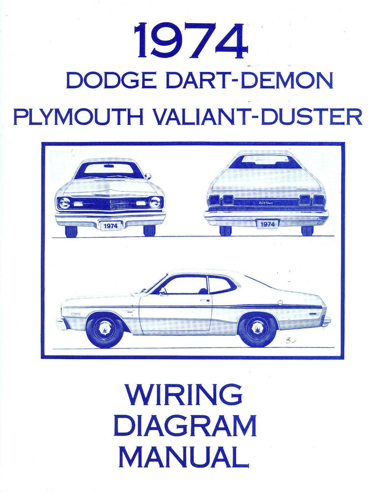 1974 74 plymouth duster dart wiring diagram ebay