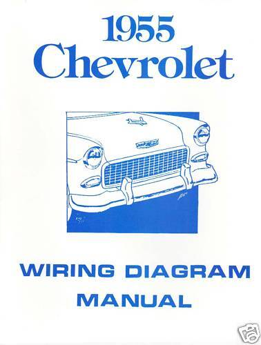 1955 55 CHEVROLET WIRING DIAGRAM MANUAL | eBay