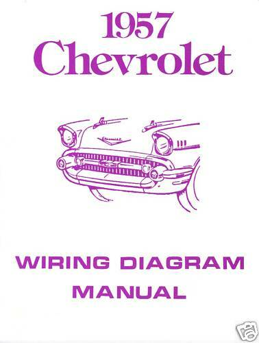 1957 57 Chevrolet Wiring Diagram Manual