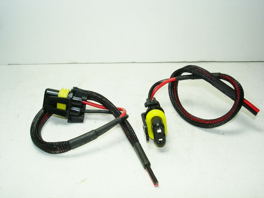 2 New 9006 Hb4 Female Wiring Harness Connectors Plugs Pigtails Wire Adapters 10 U0026quot