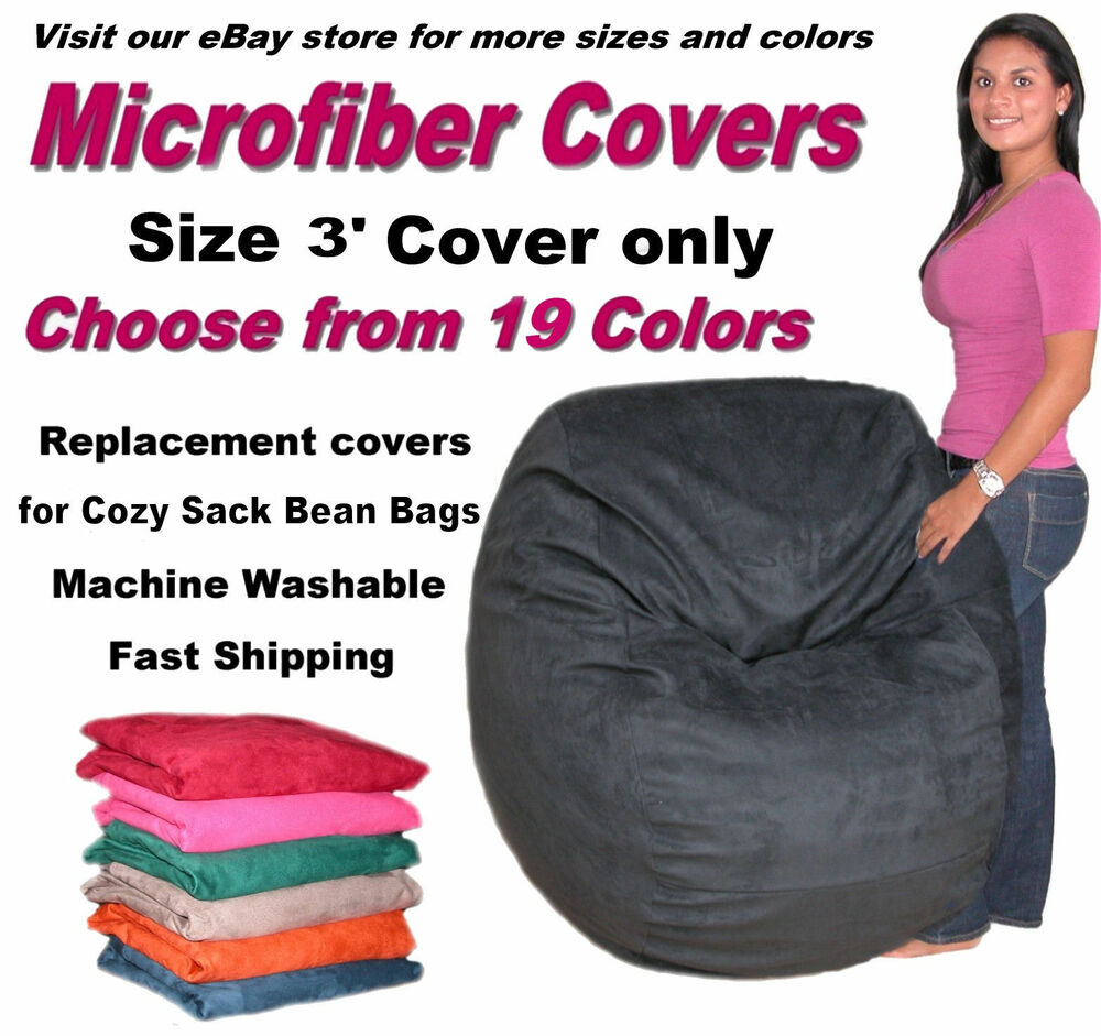Bean Bag Chair Cover Factory Direct Cozy Sack Store Fits 3 ...