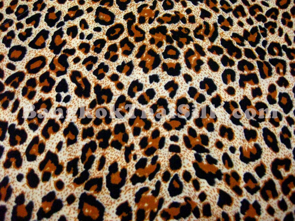 Cheetah animal print cotton blend fabric 44 w bty dress for Animal print fabric for kids