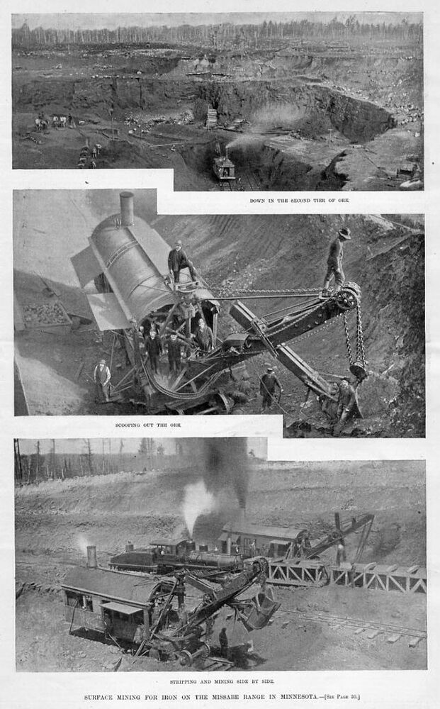 the history of iron ore mining Explore minnesota: iron ore524 мб history of iron mining iron ore mining rst occurred in minnesota on the vermilion iron range in 1884 and has since occurred on.