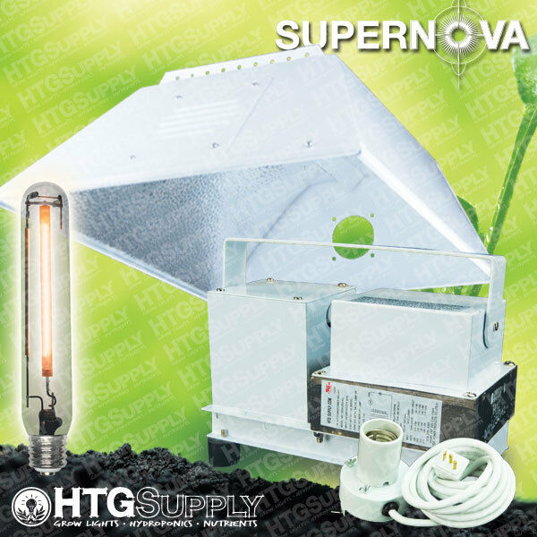 400 watt hps grow light glass lensed hood 400w sodium ebay. Black Bedroom Furniture Sets. Home Design Ideas