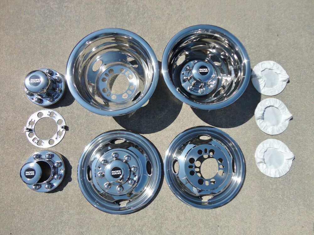 16 Quot 16 5 Quot Ford F350 Dually Wheel Hubcaps Bolt On Ebay