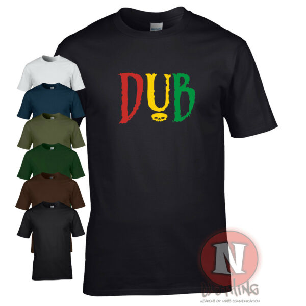 DUB t-shirt reggae club step music rasta cool retro festival fun Teeshirt