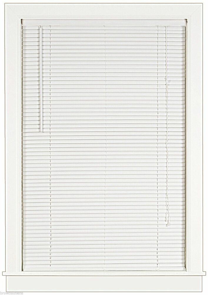 vinyl mini blinds white 1 quot slats vinyl mini blind 24 quot wide x 72 quot blinds 29411