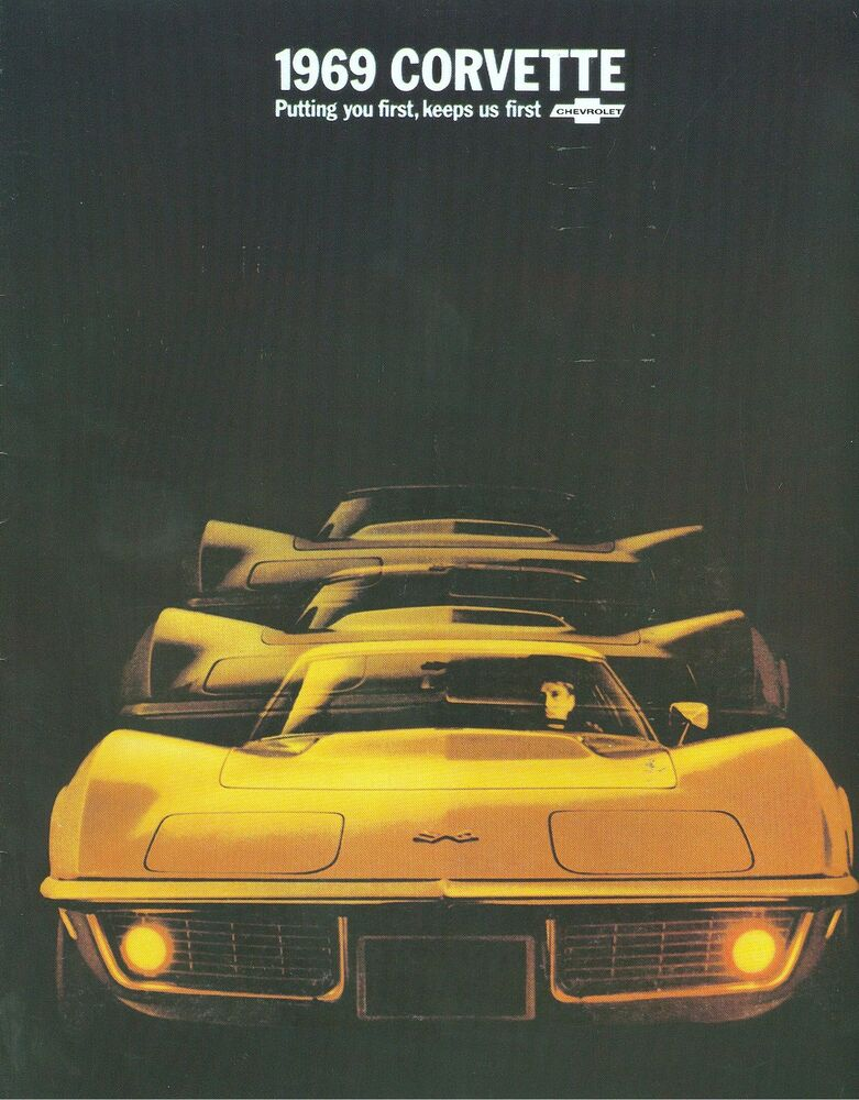 1969 69 corvette stingray sales brochure