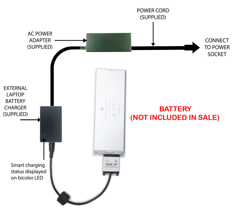 External Laptop Battery Charger For Apple Macbook 13 3