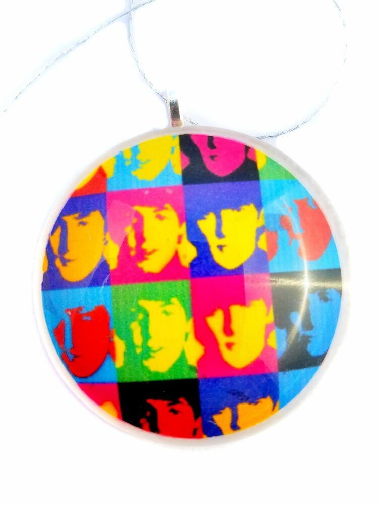 "Andy Warhol's The Beatles 2"" Round Glass Christmas ..."