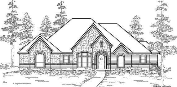 Texas country style house plans 2690 ebay for Texas country style house plans