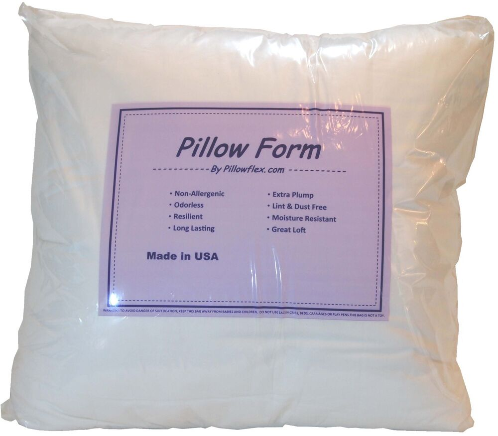 Synthetic Down Pillow Form Insert Multiple Sizes Craft Ebay