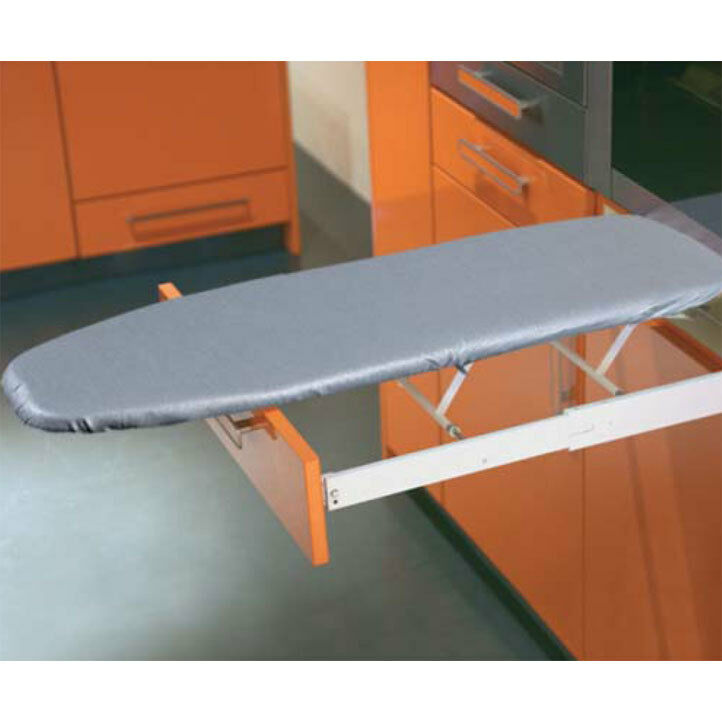 ironfix built in ironing board with sleeve arm cover ebay. Black Bedroom Furniture Sets. Home Design Ideas