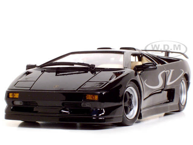 lamborghini diablo sv black 1 18 diecast car model by maisto 31844 ebay. Black Bedroom Furniture Sets. Home Design Ideas