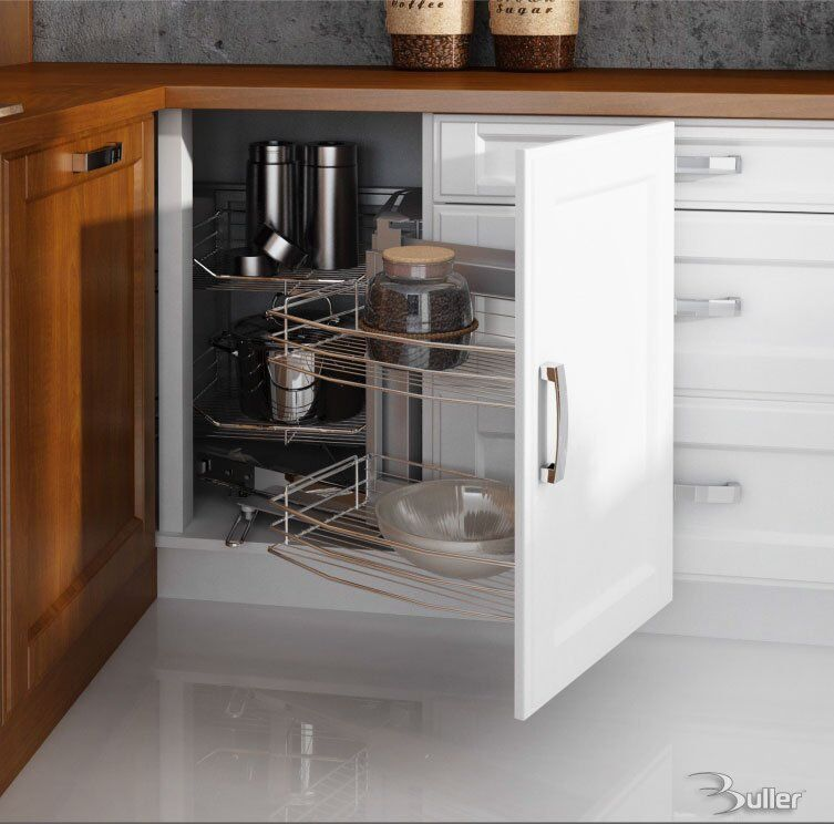 kitchen corner storage cabinets zauberecke magic corner storage with soft for blind 21602