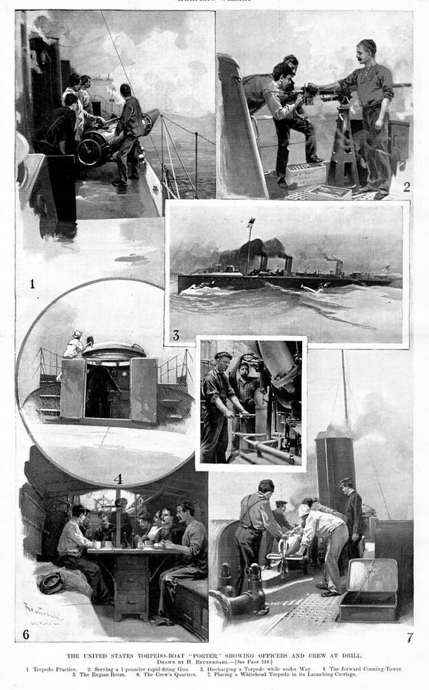 Porter (IN) United States  city photo : UNITED STATES TORPEDO BOAT PRACTICE PORTER OFFICERS DRILL CREW ENGINE ...