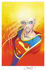 ASPEN DC SUPERGIRL #1 SIGNED PRINT TURNER
