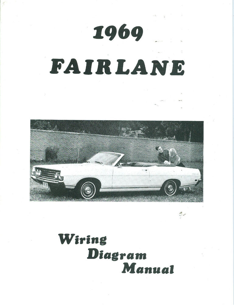 1969 ford f150 wiring diagram 1969 69 ford fairlane wiring diagram manual | ebay