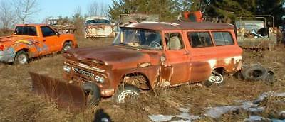 1960 61 Chevy Chevrolet Suburban 4x4 w/plow rat hot rod