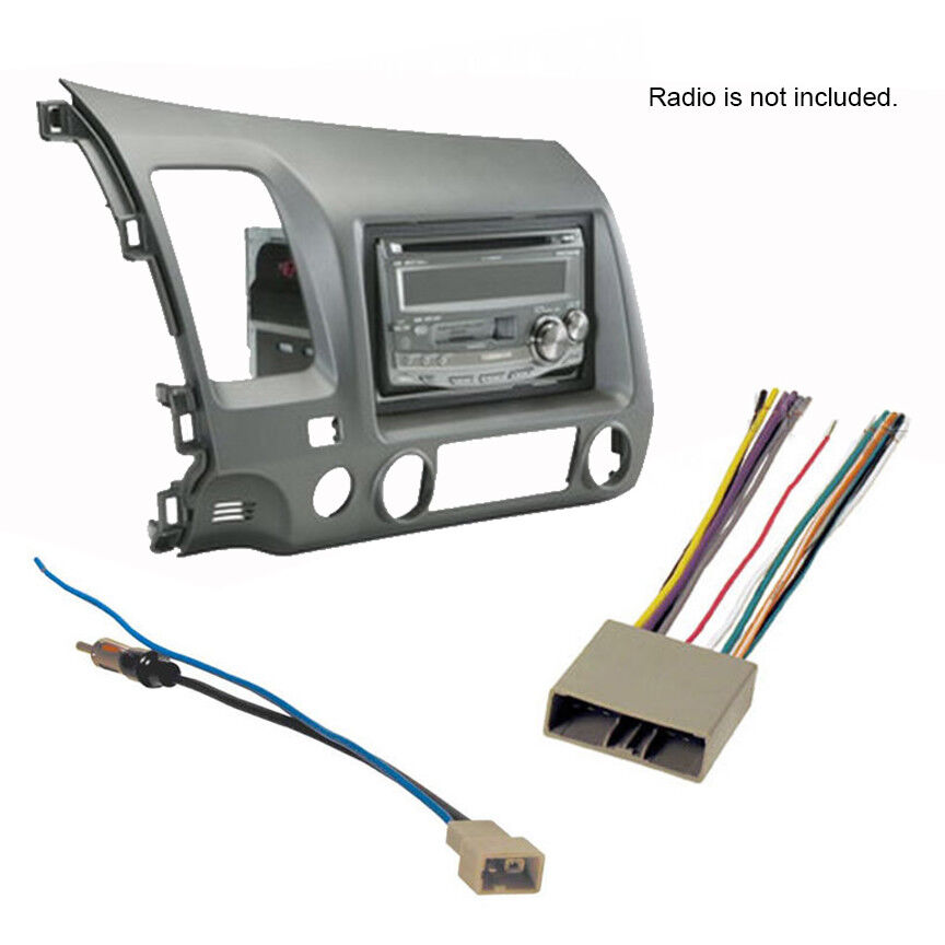 2006-2011 honda civic stereo radio install dash kit+wire ... toyota car stereo wiring harness adapter slk350 2006 stereo wiring harness adapter