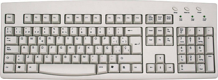 how to say keyboard layout in spanish