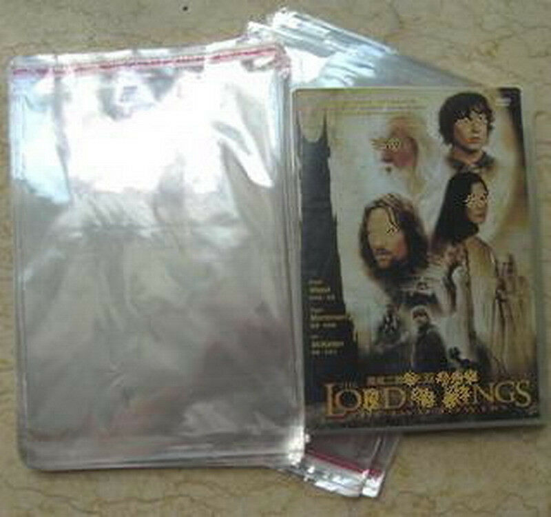 200 Dvd Case Box Cello Plastic Sleeves Wrap Bags Ebay