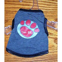 Doggles Grey Pawprint Tank Top Size Small Size 10-12 Dog Clothes