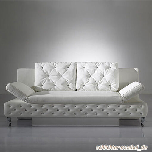 roxy schlafsofa schlafcouch sofa bettkasten wei ebay. Black Bedroom Furniture Sets. Home Design Ideas