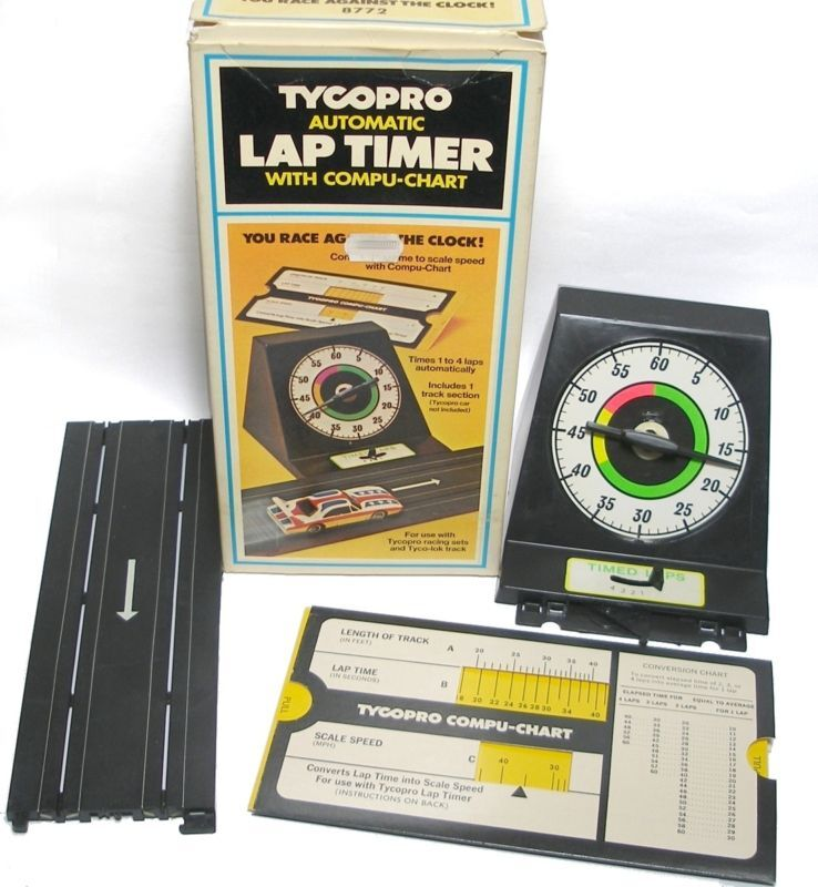 1974 TYCO PRO Slot Car Automatic Lap Timer 8772 Boxed