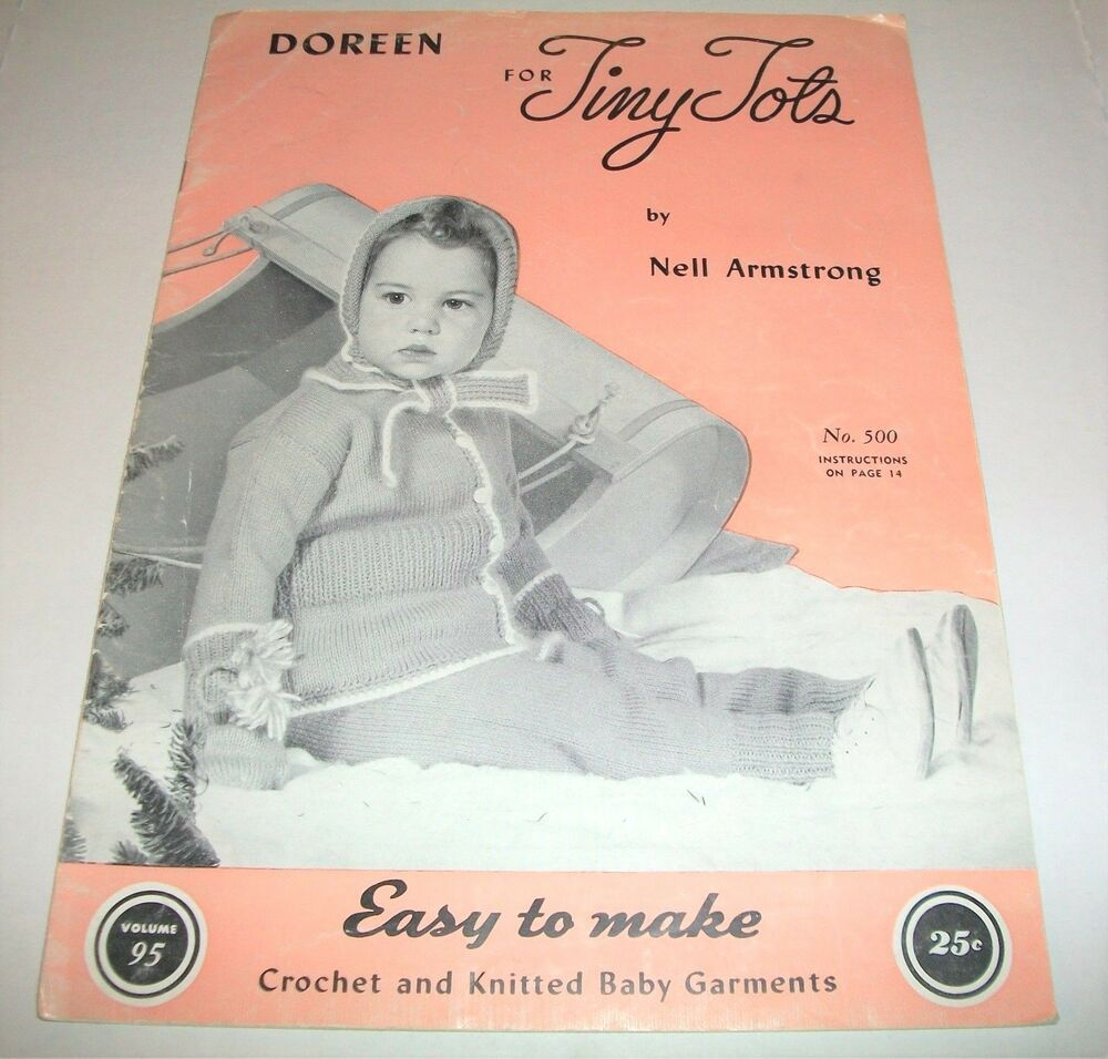 Vintage Knitting Pattern Books : VINTAGE DOREEN BABY TINY TOTS BOOK KNITTING CROCHET ...