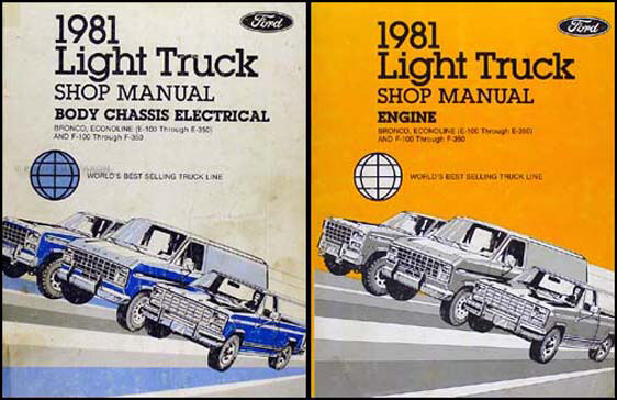 1981 Ford Truck Repair Shop Manual Set Pickup Van Bronco F100 F150 F250 F350