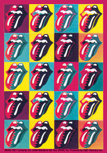 The Rolling Stones Andy Warhol Tongues Sticker Ebay