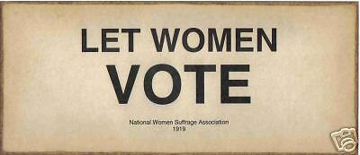 Let women vote women suffrage sign ebay for The sign