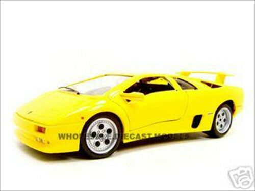 lamborghini diablo yellow 1 18 diecast model car by bburago 12042 ebay. Black Bedroom Furniture Sets. Home Design Ideas