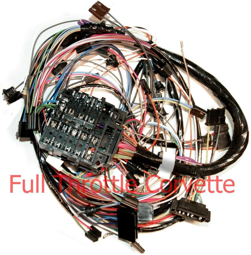 1970 Corvette Dash Wiring Harness For Vettes With Air