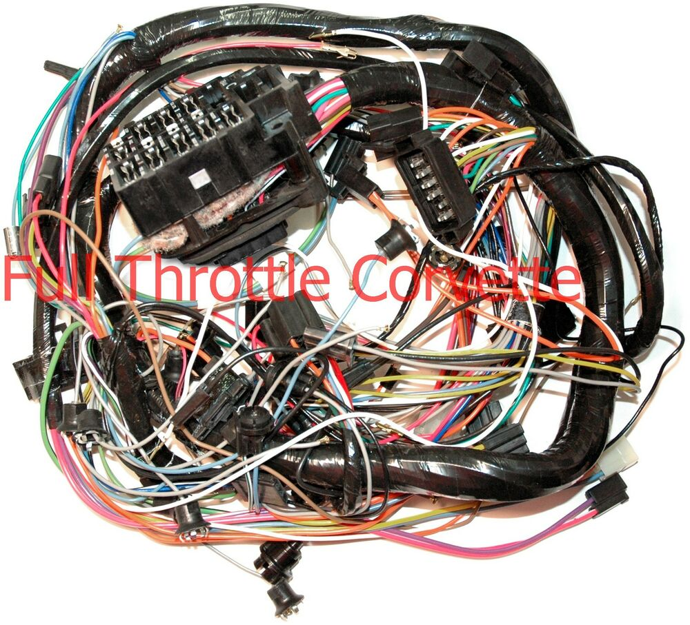 1974 Corvette Dash Wiring Harness Without A  C New