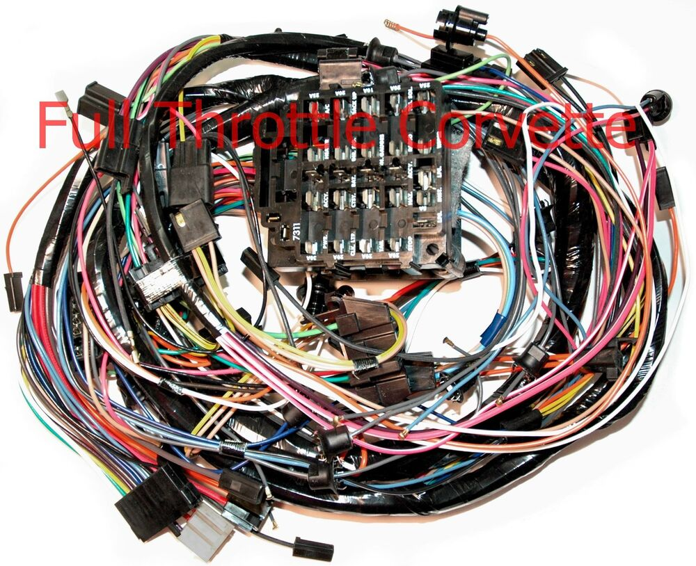 1975 Corvette Dash Wiring Harness. Automatic With Seatbelt ...