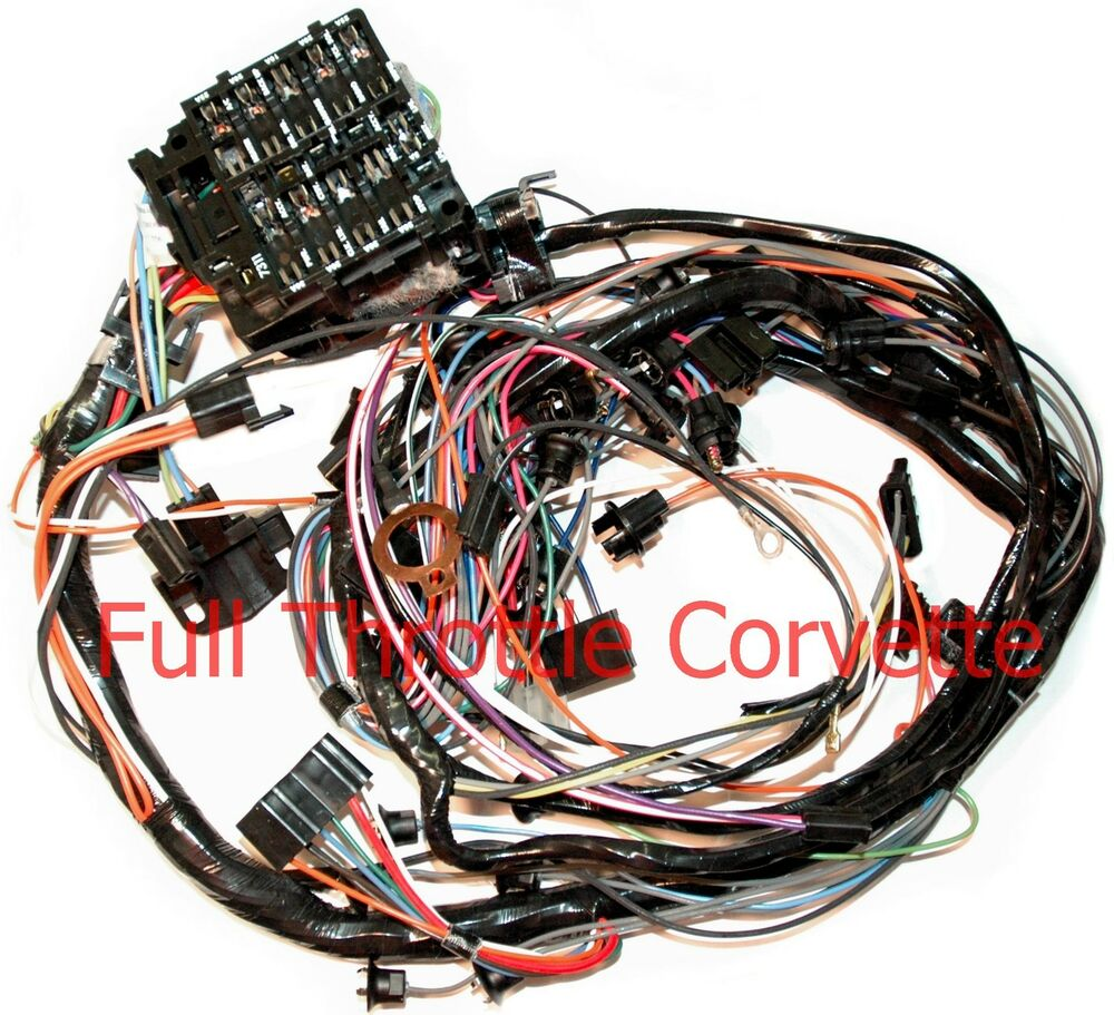 1976 Corvette Dash Wiring Harness For Vettes With Manual 4