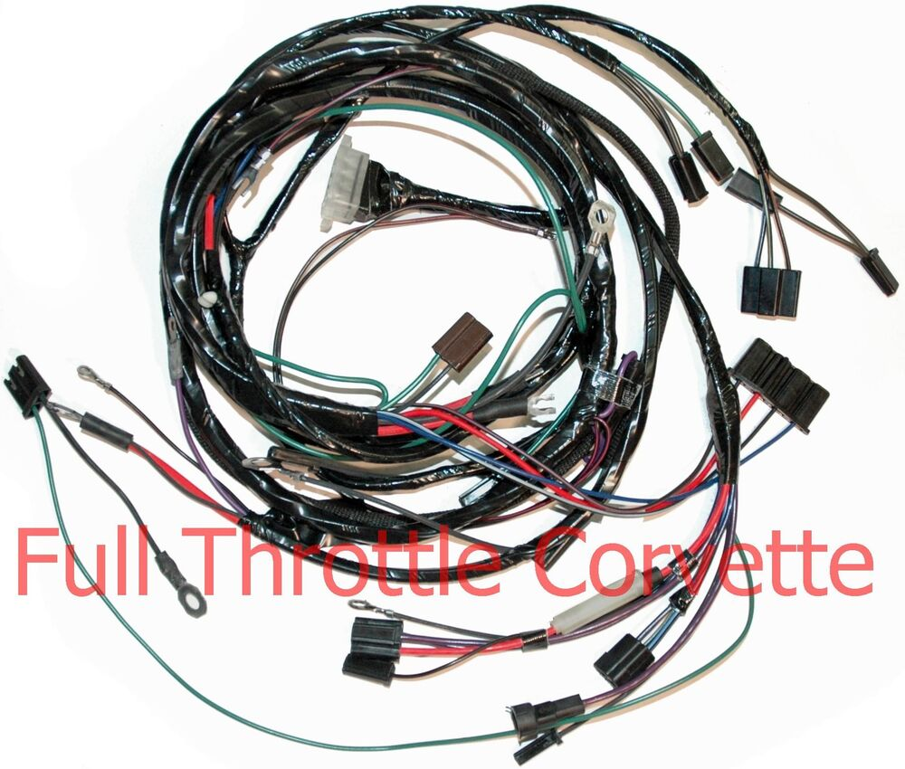 1964 1965 corvette small block engine wiring harness with oe a c ebay