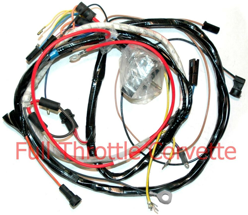 1972 Corvette Wiring Harness Free Diagram For You Engine Manual Small Block Ebay 1973 1971