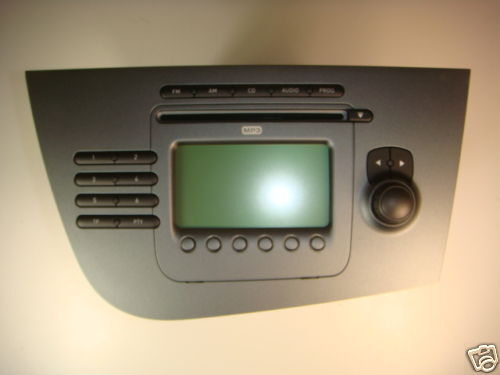new genuine seat leon 1p cd mp3 radio stereo head unit. Black Bedroom Furniture Sets. Home Design Ideas