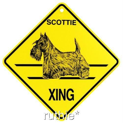 Scottie Dog Crossing Xing Sign New | eBay